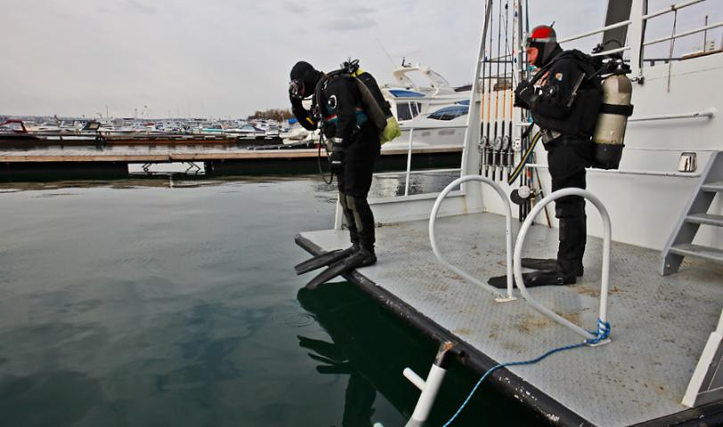 Комфортный спуск в воду с палубы
